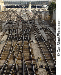 Steel labyrinths 2 - Railroad in Toronto, Canada