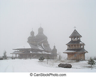 Wooden church - Ukrainian Church Canada