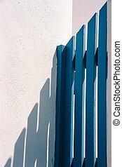 Blue gate, Santorini, Greece