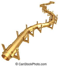 Gilded Oil Pipeline 3D