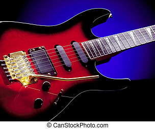 Guitar - Electric Guitar with blue background