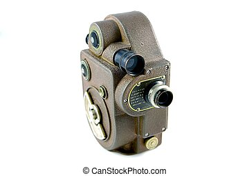 Old Video Camera - Old 50\\\'s Movie Camera with with...