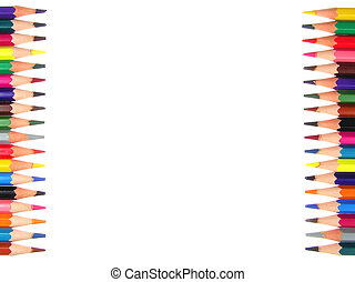 Frame crayons - Backgrond and frame of crayons