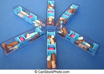 limp of medicines - Arrangement of medicines for several...