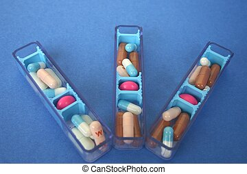 Limp with medicines - Arrangement of medicines for several...