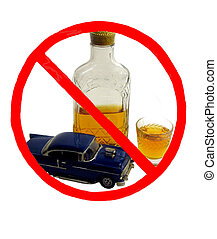 Dont Drink and Drive - , a shot of whiskey in a glass, a...