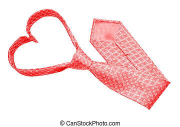 Valentine tie - Red valentine tie