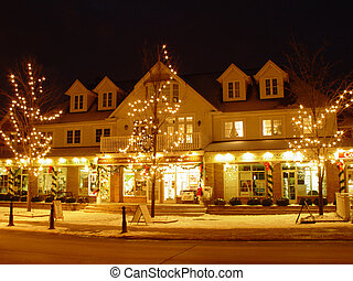 Kleinburg in the night - Kleinburg, Ontario, Canada