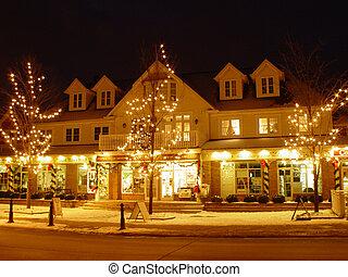 Kleinburg in the night - Kleinburg, Ontario, Canada