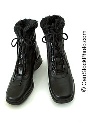 Boot\\\'s - Pair Of Fashion Boot\\\'s Isolated On A White...