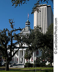 Florida State Capitol Buildings - Vertical - old and new...