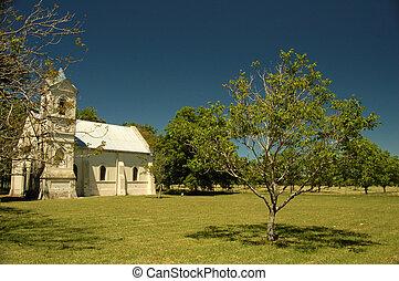 Small church in the farm. Uruguay