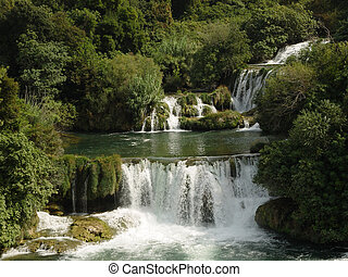Green waterfall 1 - National park Krka, Croatia