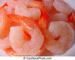 Shrimp - a bowl of small cooked shrimp