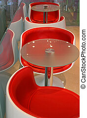 Funky furniture - Modern red chairs and table
