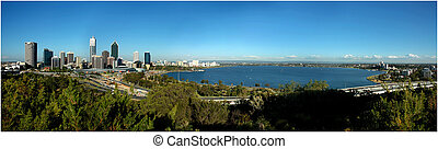 Panorama View of Perth City