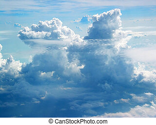 Clouds From Plane - Towering Cumulus Clouds - Suitable for...