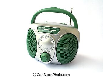 Toy Radio over white