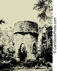 Grunge ruins - Grunge style image of old ruins