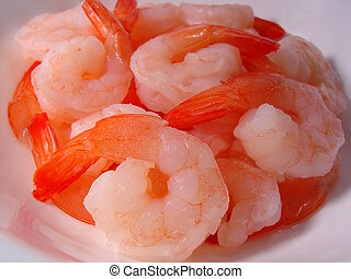 Bowl of Shrimp - a bowl cooked shrimp