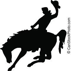 Bucking Horse - Bucking horse clip-art
