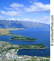 Queenstown, NZ - Queenstown, New Zealand, seen from Bobs...