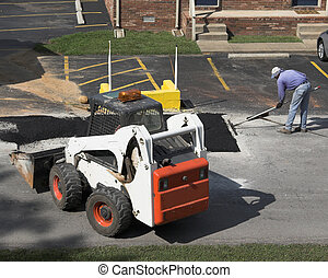 Road Repair 2 - City crews working on street repair patching...
