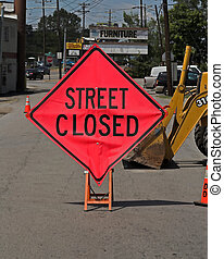 Street Closed - City crews working on street repair patching...
