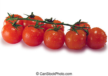 Tomatoes isolated on white with clipping path