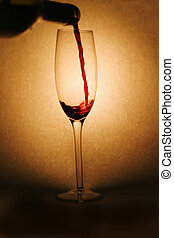 öntés, piros, bor