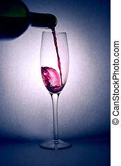 たたきつける, 赤, ワイン