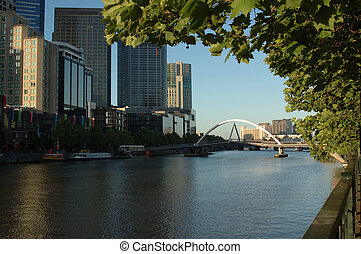 Melbourne City - The foot-bridge that connects...