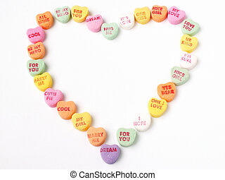 heart of hearts - heart made of candy hearts