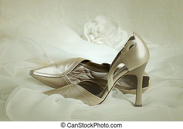 Stiletto Heels - Soft focus vignette of wedding shoes...