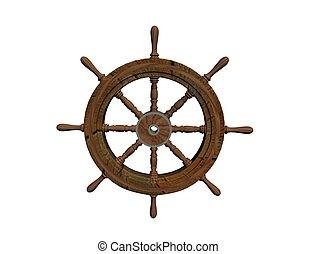 steering wheel - nautical steering wheel