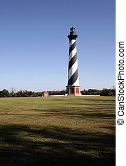Hatteras Lighthouse - The Cape Hatteras Lighthouse with...