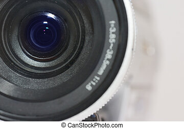 Digital Video Camera - Close up of digital video camera...