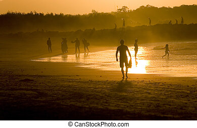 People at the beach - Noosa beach, AUS