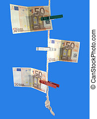 euro on the rope