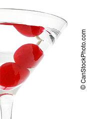 Cherry Martini - Maraschino cherry martini isolated