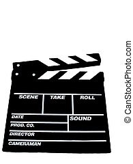 Movie Clapboard - , a movie clapboard over white, blank add...