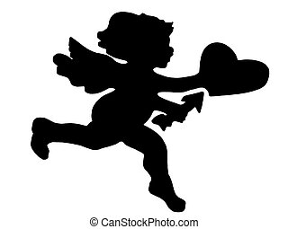 love - silhouetted cupid
