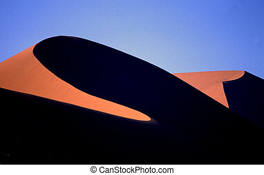 Big dunes in Namibia - Dunes in the first light