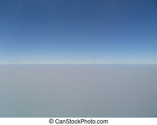 Abstract atmosphere - Photograph from 35,000 feet. This is...