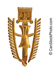 pre-colombian art - gold figure design of pre-colombian art