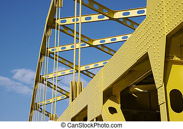 Yellow Bridge - Detail of side of Yellow Bridge