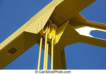 Bridge Detail - Detail of Yellow Bridge
