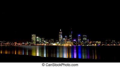 perth city at night -