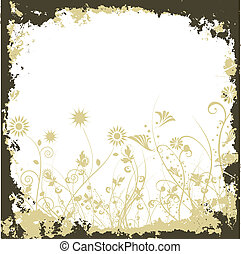 Floral grunge - Grungey floral background