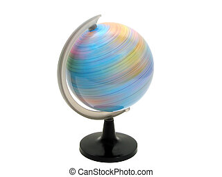 Earth globe spinning over white background with clipping...